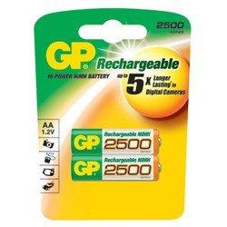 Аккумуляторная батарея АА (GP 250AAHC-UC2PET-G) (2500mAh, 2 шт)