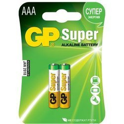 Алкалиновая батарейка ААА (GP 24A Super Alkaline 0026410) (2шт)
