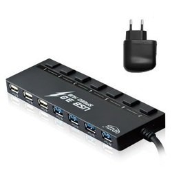 Концентратор USB 3.0 (Ginzzu GR-388UAB)