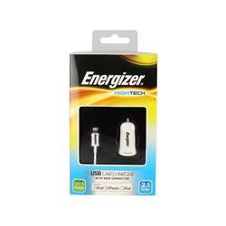 Автомобильное зарядное устройство Lightning - USB для Apple iPhone 5, 5C, 5S, 6, 6 plus, iPad 4, Air, Air 2, mini 1, mini 2, mini 3 (Energizer DC1UHIP5)