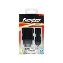 Автомобильное и сетевое зарядное устройство + кабель USB microUSB (Energizer 32UEUCMC2)