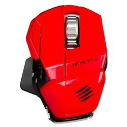 mad catz r.a.t.m wireless mobile gaming mouse gloss red usb