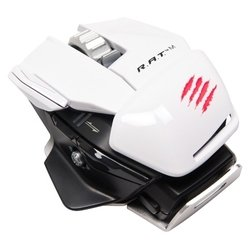 mad catz r.a.t.m wireless mobile gaming mouse gloss white usb