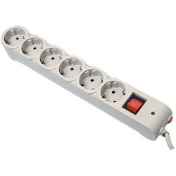 Сетевой фильтр Defender DFS 601 6 розеток 1.8 м (серый)