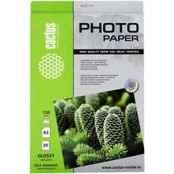 Фотобумага глянцевая, самоклеящаяся А3 (20 листов) (Cactus CS-GSA313020)