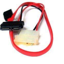 Кабель SATA - Molex (4-pin) - SlimSATA 0.25 м