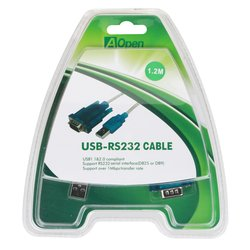 Кабель USB A (m) - RS232 (m) 1.2 м (Aopen ACU804)