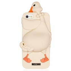 чехол-накладка tpu для apple iphone 5, 5s (moschino luisa the goose 13005) (белый)