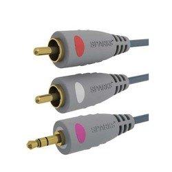 ������ Jack 3.5 mm (m) - 2xRCA (m) 1.8 � Gold (Sparks SG1136)