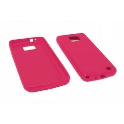 Силиконовый чехол-накладка для Samsung Galaxy S2 i9100 (Palmexx) (розовый)