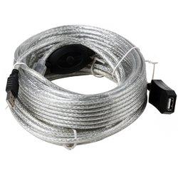 Кабель-удлинитель USB A (m) - USB A (f) 15 м (Aopen ACU823-15M)