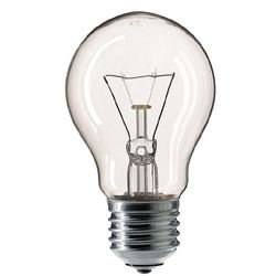 Лампа накаливания Philips Lighting Stan А75 60W Cl E27 230V (колба грушевидная прозрачная)