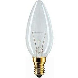 Лампа накаливания свеча Philips Lighting B35 25W E14 Cl 230V (колба свечевидная прозрачная)