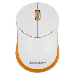 mediana wm-332or white-orange usb (белый/оранжевый)