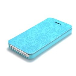чехол-книжка для apple iphone 5c (gissar pais 51259) (голубой)