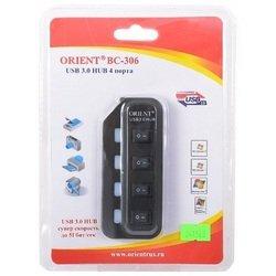 Концентратор USB 3.0 (ORIENT BC-306)