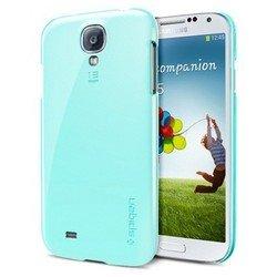 Пластиковый чехол-накладка + защитная пленка для Samsung Galaxy S4 GT-I9500, GT-I9505 (Spigen SGP Ultra Thin Air Series SGP10248) (мятный)