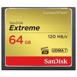 Sandisk Extreme CompactFlash 120MB/s 64GB