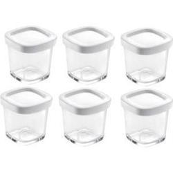 Набор стеклянных стаканчиков с крышками для Tefal Multidelice (XF 100032) (6шт)