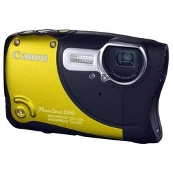 canon powershot d20 (yellow 12.1mpix zoom5x 3 1080p sdhc is kpr/wpr/fpr gps nb-6l, защищенная)