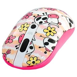 crown cmm-926w cow white-pink usb