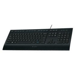 Logitech Corded Keyboard K280e Black USB (черный)