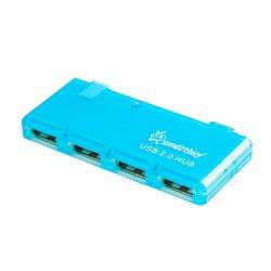 Концентратор USB 2.0 (SmartBuy SBHA-6110-B) (голубой)