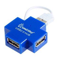 Концентратор USB 2.0 (SmartBuy SBHA-6900-B) (синий)