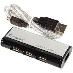 Концентратор USB 2.0 (SmartBuy SBHA-6806-K) (черный)