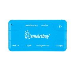 Концентратор USB 2.0 (SmartBuy Combo SBRH-750-B) (голубой)