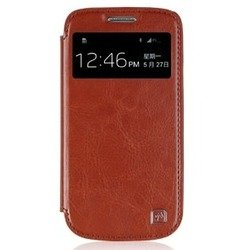 ������� �����-������ ��� samsung galaxy s4 mini gt-i9190 (hoco crystal leather view 14140) (����������)