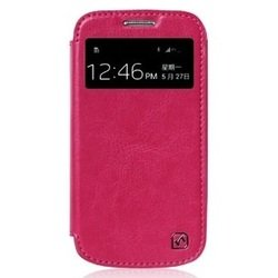 ��������� ������� �����-������ ��� samsung galaxy s4 mini gt-i9190 (hoco crystal leather view 14141) (�������)