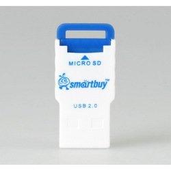 Картридер USB 2.0 (SmartBuy SBR-707-B) (бело-голубой)