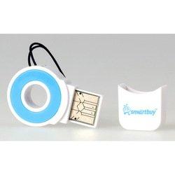 Картридер USB 2.0 (SmartBuy SBR-708-B) (бело-голубой)