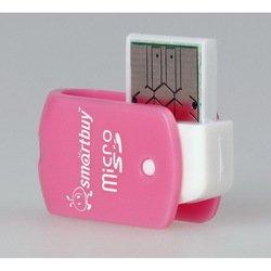 Картридер USB 2.0 (SmartBuy SBR-706-P) (бело-розовый)