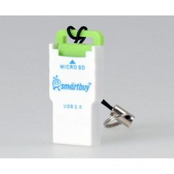 Картридер USB 2.0 (SmartBuy SBR-707-G) (бело-зеленый)