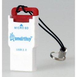 Картридер USB 2.0 (SmartBuy SBR-707-R) (красно-белый)