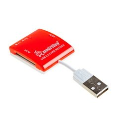 Картридер All in 1 USB 2.0 (SmartBuy SBR-713-R) (красный)