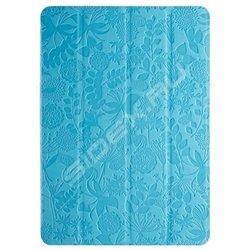 Чехол-книжка для Samsung Galaxy Note 10.1 P6000 (Gissar Flora 22051) (голубой)