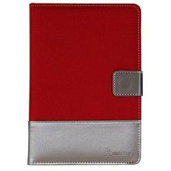 """Универсальный чехол-книжка для планшетов 7"""" (SmartBuy Jacquard) (красный)"""