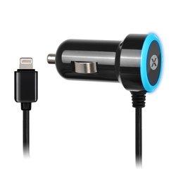 Автомобильное зарядное устройство Lightning для Apple iPhone 5, 5C, 5S, 6, 6 plus, iPad 4, Air, Air 2, mini 1, mini 2, mini 3 (Dexim DCA288-B) (черное)