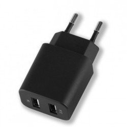 Универсальное сетевое зарядное устройство 2xUSB 2.1A (Deppa Ultra 11308) (черное)