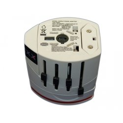 Универсальное сетевое зарядное устройство 2xUSB (Palmexx PX/PA-UK/US/EU/AU 1300W) (белое)