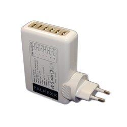 Универсальное сетевое зарядное устройство 6xUSB (Palmexx PX/PA-6USB-4A-WH)