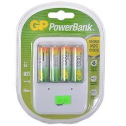 ����������� + �������� ���������� ��� ���/�� (GP PowerBank PB420GS130-CR4) (4 �� AA, 1300 ���)