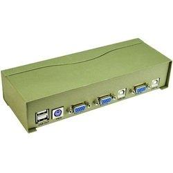������������� KVM Vpro USB Auto 2-port (PS/2, USB, SVGA, Audio + Mic) (VCOM VDS8004)