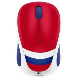 logitech wireless mouse m235 910-004033 white-blue-red usb