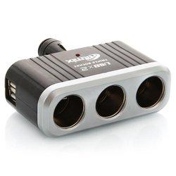 Разветвитель прикуривателя на 3 гнезда с 2 USB (RITMIX RM-023)
