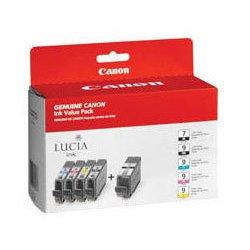 Набор картриджей для Canon PIXMA Pro9500, MX7600, IX7000 (PGI-9 PBK/C/M/Y/GY 1034B013) (черный, голубой, пурпурный, желтый, серый)