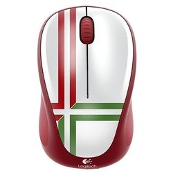 logitech wireless mouse m235 910-004036 green-red usb